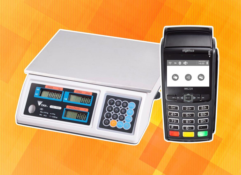Waga elektroniczna i terminal płatniczy
